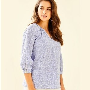 NEW Lilly Pulitzer 3/4 Sleeve Willa Top!